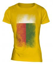Madagascar Faded Flag Ladies T-Shirt