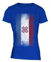 Mari El Faded Flag Ladies T-Shirt