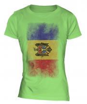 Moldova Faded Flag Ladies T-Shirt
