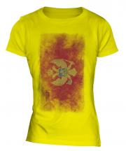 Montenegro Faded Flag Ladies T-Shirt