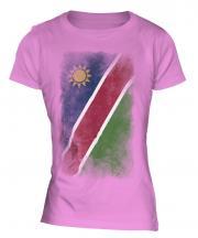 Namibia Faded Flag Ladies T-Shirt
