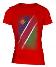 Namibia Faded Flag Ladies T-Shirt