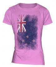 New Zealand Faded Flag Ladies T-Shirt