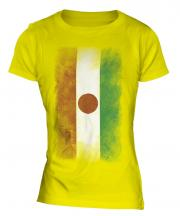 Niger Faded Flag Ladies T-Shirt