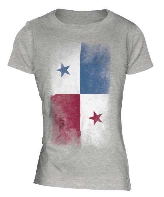Panama Faded Flag Ladies T-Shirt