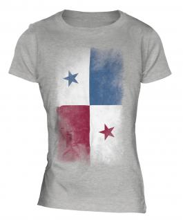 Panama Faded Flag Ladies T-Shirt