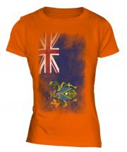 Pitcairn Islands Faded Flag Ladies T-Shirt