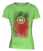 Portugal Faded Flag Ladies T-Shirt