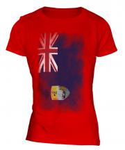Saint Helena Faded Flag Ladies T-Shirt