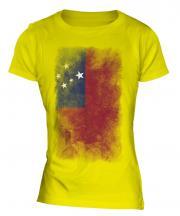 Samoa Faded Flag Ladies T-Shirt