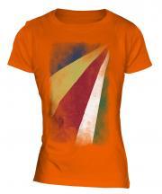 Seychelles Faded Flag Ladies T-Shirt