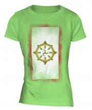 Sikkim Faded Flag Ladies T-Shirt