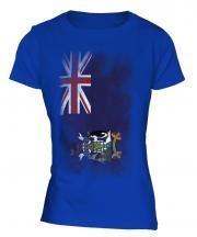 South Georgia Faded Flag Ladies T-Shirt