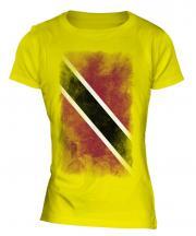 Trinidad And Tobago Faded Flag Ladies T-Shirt