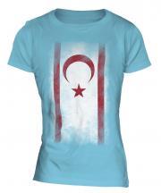 Turkish Republic Of Northern Cyprus Faded Flag Ladies T-Shirt