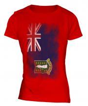 Uk Virgin Islands Faded Flag Ladies T-Shirt