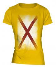 Alabama State Faded Flag Ladies T-Shirt