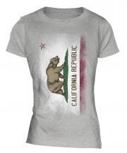 California State Faded Flag Ladies T-Shirt
