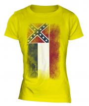 Mississippi State Faded Flag Ladies T-Shirt