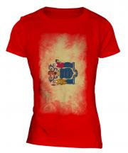 New Jersey State Faded Flag Ladies T-Shirt