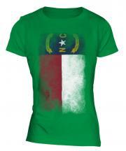 North Carolina State Faded Flag Ladies T-Shirt