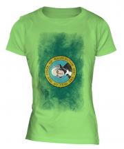 Washington State Faded Flag Ladies T-Shirt
