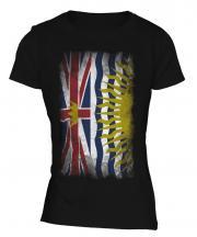 British Columbia Faded Flag Ladies T-Shirt