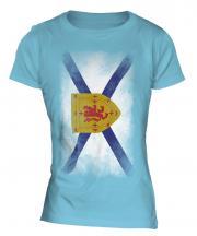 Nova Scotia Faded Flag Ladies T-Shirt