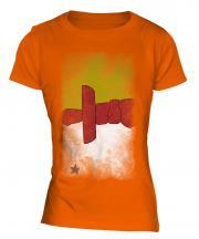 Nunavut Faded Flag Ladies T-Shirt