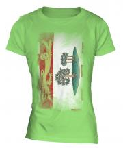 Prince Edward Island Faded Flag Ladies T-Shirt