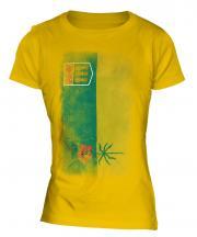 Saskatchewan Faded Flag Ladies T-Shirt