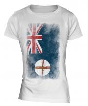 New South Wales Faded Flag Ladies T-Shirt
