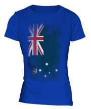 Victoria Faded Flag Ladies T-Shirt