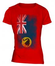 Western Australia Faded Flag Ladies T-Shirt