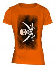 Pirate Faded Flag Ladies T-Shirt