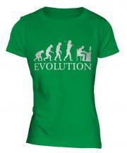 Computer Geek Evolution Ladies T-Shirt