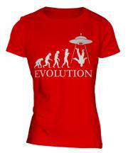 Ufo Invasion Evolution Ladies T-Shirt