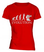 Television Cameraman Evolution Ladies T-Shirt