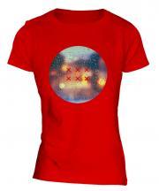 Drops Of Rain Fashion Print Ladies T-Shirt
