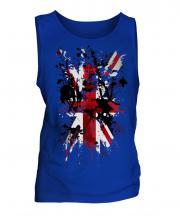 Union Jack Abstract Print Mens Vest