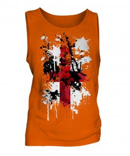 England St. George Cross Abstract Print Mens Vest