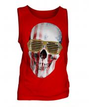 Stars And Stripes Skull Mens Vest