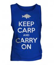 Keep Carp And Carry On Mens Vest