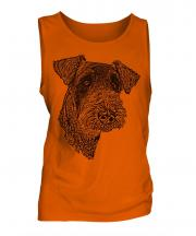 Airedale Terrier Sketch Mens Vest