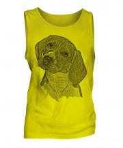 Beagle Sketch Mens Vest