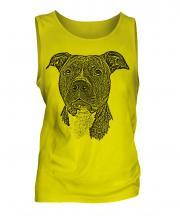 Staffordshire Terrier Sketch Mens Vest