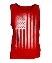 Stars And Stripes Faded Print Mens Vest