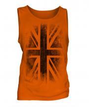 Union Jack Faded Print Mens Vest