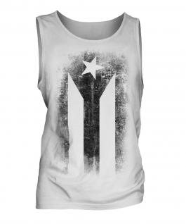 Cuban Flag Faded Print Mens Vest