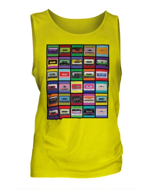 Pop Art Cassette Tapes Mens Vest
